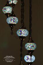 7-BALL, GLOBE TURKISH MOSAIC CHANDELIER, TURKISH LAMP, TURKISH THE LIGHTS