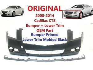 2008 2009 2010 2011 2012 2013 2014 cadillac cts front bumper (cover + trim) OEM
