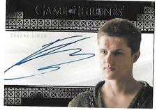 2017 Game of Thrones Valyrian Steel Eugene Simon Autograph AUTO Lancel Lannister