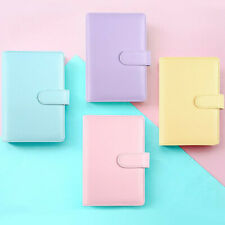 A6/A5 Macarons Loose Leaf Ring Binder Notebook Weekly Monthly Planner Diary