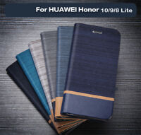For Huawei Honor 10 9 8 Lite Business Case Flip Card Slot Leather Phone Cover