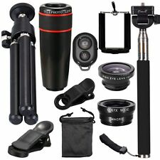 10 In1 Accessories 8X Zoom Universal Phone Camera Lens Travel Kit For Smartphone