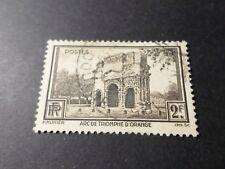 FRANCE 1938, timbre 389, ARC TRIOMPHE ORANGE, oblitéré VF STAMP