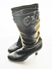 Women Winter Real Leather and Suede Brown color Fashion Boot