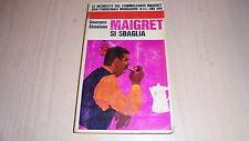 GEORGES SIMENON:MAIGRET SI SBAGLIA.MONDADORI 1967 INCHIESTE DEL COMMISSARIO N.44