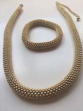 JEWELERY SET BRACELET NECKLACE GOLD lOOK