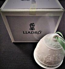 1992 Lladro #15913 Porcelain Christmas Bell w/ Box Campanita Navidad 100% Mint