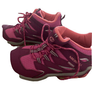 Merrill Youth Chameleon 7 Waterproof Hiking Boots - Berry - Size 3