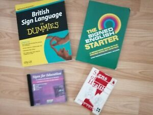 3 Books And 1 CD British Sign Language