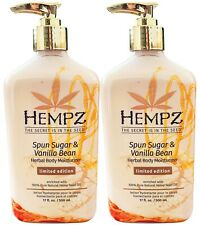 2-Pack Hempz SPUN SUGAR & And VANILLA BEAN Herbal Moisturizer Lotion 17oz