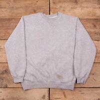 "Mens Vintage Carhartt Grey Cotton Crew Neck Sweatshirt Jumper Large 44"" R11230"