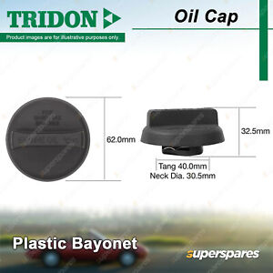 Tridon Oil Cap for Toyota Avalon Camry MCV36R MCV20R Estima Kluger MCU28R Supra