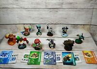 Skylanders Lot of 10 Figures Double Trouble Chop Chop Hex Shroomboom Cards Codes