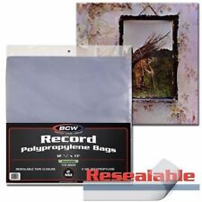 Pack of 100 BCW 33RPM Resealable LP Record Album Archival 2-Mil Clear Poly Bags
