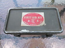 Vintage 1960s Us Military FirstAid Kit 65459221200 Filled w Original Supplies