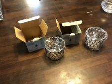 Partylite P7047 Home Scentiments Small Metal Baskets Lot Of 2