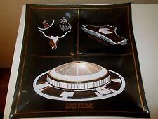 VTG Houston Astrodome Large Black Smoked Glass Snack Dish Texas FootbalL MINT