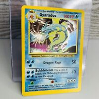 Gyarados Holo 6/102  Base Set 1999 Pokemon Card  #4 Near Mint OFF CENTER OC
