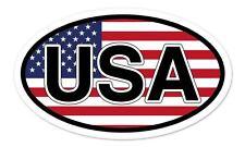 "USA Flag Oval car window bumper sticker decal 5"" x 3"""
