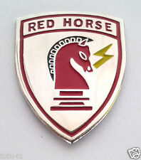 RED HORSE US AIR FORCE CIVIL ENGINEER Military Veteran Hat Pin 14899 HO LARGE