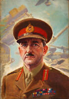 Excellent Oil painting male portrait Army General On the battlefield canvas