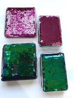 KING SIZE Cigarette Case with SPARKLE SEQUIN 2 SIZES Holds 14-20 CIGARETTES