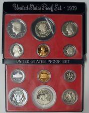 1979 Empty Packaging Replacement Proof Set Black Box No Coins 1979