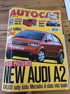 Autocar car magazine AUG 1999 A2 360M PUMA 607 S6 YARIS PUNTO SCENIC
