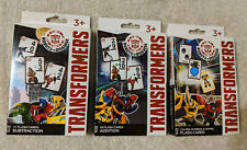 3 Packs Of TRANSFORMERS Flash Cards- Addition & Subtraction & Colors/Numbers/Sha