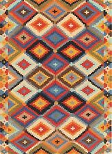 Hand-Woven Geometric 5x8 Kilim Turkish Oriental Area Rug Wool Area Rug Carpet