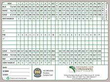 D'impression A5-cypress knoll golf club score card (blank replica photo poster art)