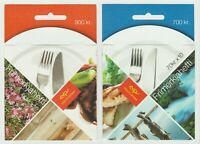 S36167 Island Iceland 2005 Europa Cept MNH Booklets X2 Gastronomy