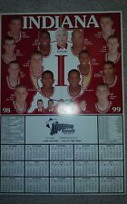 INDIANA UNIVERSITY HOOSIERS 1998-99 MEN'S BASKETBALL POSTER/SCHEDULE
