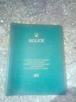 Vintage Rolex R5 dealer guide watch spare parts catalogue rare collectible Swiss
