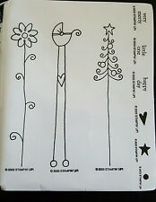 Stampin' Up *NICE and NARROW* 4pc Mounted Rubber Stamp Set. Retired. 2003. NEW.