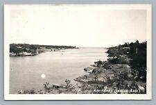"Killarney Ontario RPPC ""Looking East"" Rare Vintage Photo Postcard—Sudbury 1945"