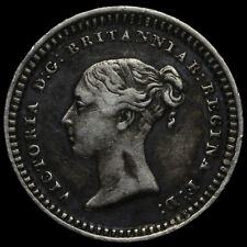 More details for 1843 queen victoria young head silver three-halfpence, gvf