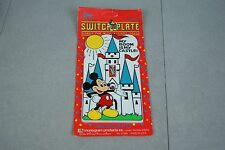 Disney Mickey's Stuff Mickey Mouse Wall Switchplate Made in USA NEW OLD STOCK