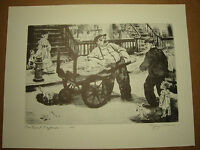 "Peggy Bacon Antique 1939 PRINT ""The Rival Ragmen"" vintage print"