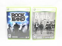 Xbox 360 Lot of 2 Games Rock Band and The Beatles with Manual
