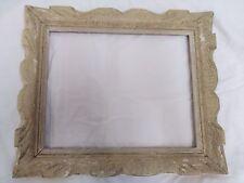 cadre montparnasse bois sculpté peint  feuillure 30 cm x 24 cm frame