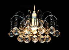 MODERN ORIEL FACETED CRYSTAL DROP ACRYLIC CEILING PENDANT LIGHT SHADE CHROME