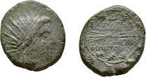 Ancient Greece  221-179  BC MACEDON PHILIP V HELIOS THUNDERBOLT AE