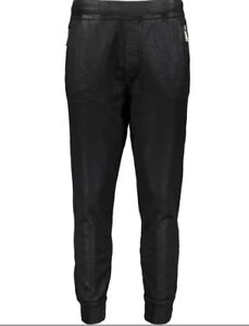 DSQUARED2 Waxed Cotton Jogging Bottoms - Black - Small -  £400