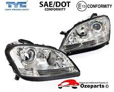 Pair LH+RH Head Light Lamp Non HID For Mercedes Benz M Class W164 2005~2008