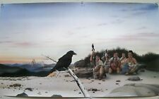 1997 Print Donald Vann Return of the Raven Lithograph Cherokee Western Artwork