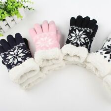 Warm Winter Thick Gloves Wool Knitted Fleece Women Touch Screen Gloves Pop
