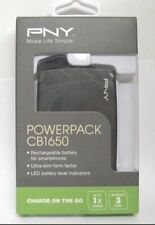 PNY - PowerPack CB1650 USB Rechargeable External Battery - Black