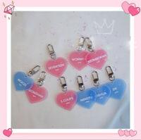 2019 New Kpop SEVENTEEN Acrylic Keychain HOSHI Heart Pendant Keyring Pink/Blue