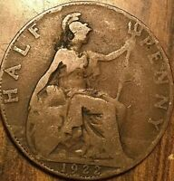 1922 UK GREAT BRITAIN HALF PENNY